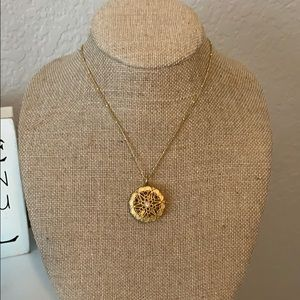 Origami Owl Gold tone Sentiments with chain